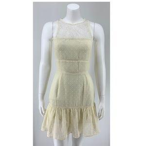 NEW NBD Lace Mini Dress Ivory Small E14
